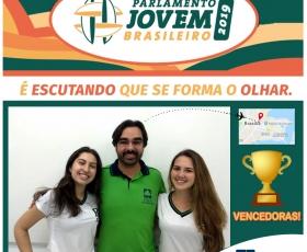 ALUNAS DO COLÉGIO SELECIONADAS PARA O PARLAMENTO JOVEM 2019